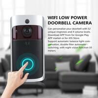 Wireless WiFi Doorbell Kit IR Night Vision Hoom Door Guard 50M Penetration