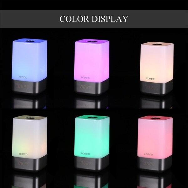 Touch Sensor Dimmable RGB Atmosphere Intelligent Wake-up Light Lamp