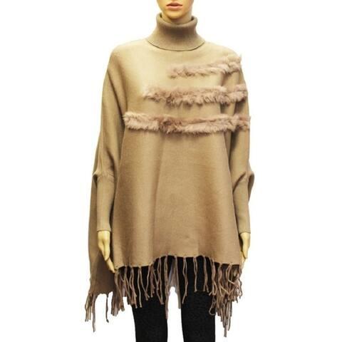 Shawl Poncho Women Wrap Winter Cardigan Cape Faux Warm Scarf Fashion