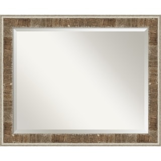 Farmhouse Brown Narrow Wood Wall Mirror