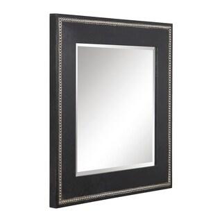 Uttermost Lollis Aged Black Square Mirror - Champagne/Silver - 32x32x1.75