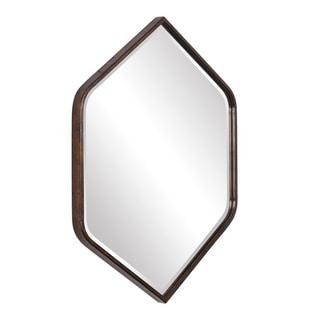 Uttermost Magda Dark Bronze Hexagon Wall Mirror - 30.13x36x1.38