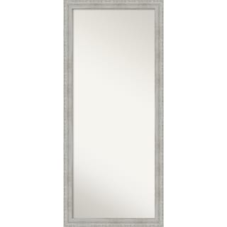Rustic Whitewash Wood Floor / Leaner Mirror - White Wash - 64.38 x 28.38 x 1.058 inches deep