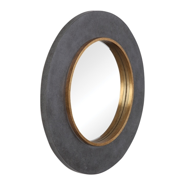 Uttermost Saul Antique Gold Round Mirror - Antique Gold - 30x30x1.89
