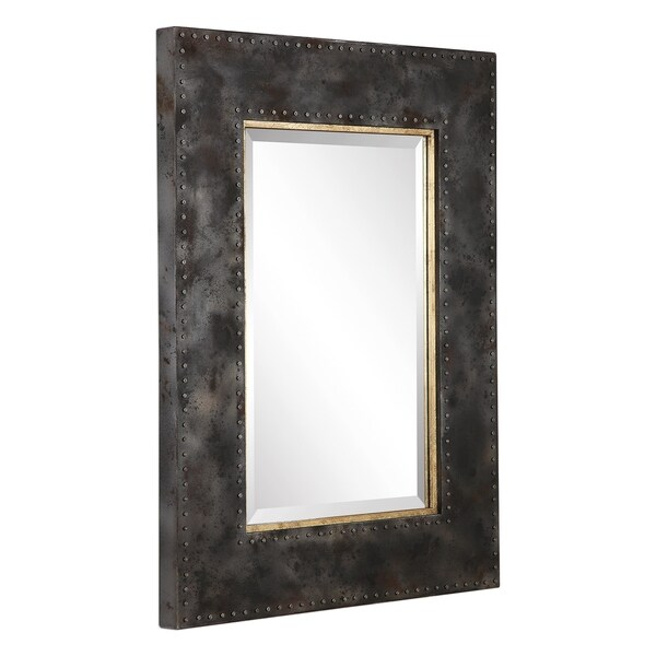 Uttermost Amparo Oxidized Steel Grey Industrial Mirror