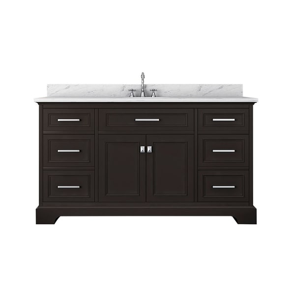 Shop Pittsburgh 61 in Single Bathroom Vanity in Espresso ...