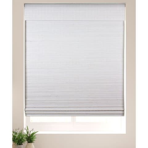 Arlo Blinds Semi-Privacy White Bamboo Shades with 60 Inch Height