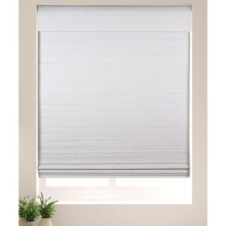 Link to Arlo Blinds Semi-Privacy White Bamboo Shades with 60 Inch Height Similar Items in Wood Blinds