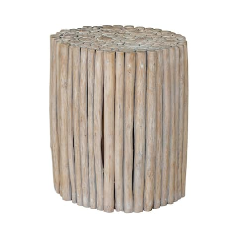 Uttermost Tectona Driftwood Teak End Table