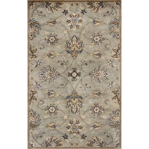 Domani Alexandria Grey Marrakesh Hand-tufted Wool Area Rug