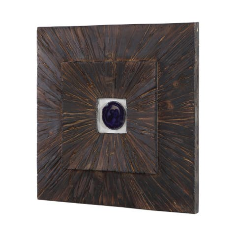 Uttermost Anika Burnished Wood Wall Decor - 20 x 20