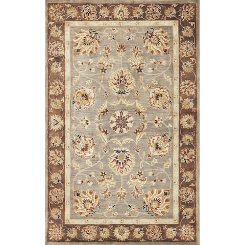 Domani Alexandria Grey/Mocha Traditional Border Area Rug