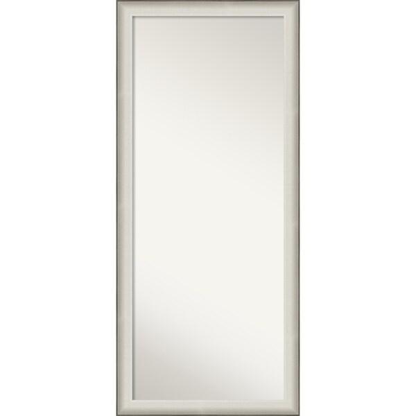 Allure White Wood Floor / Leaner Mirror - 64.50 x 28.50 x 1.632 inches deep