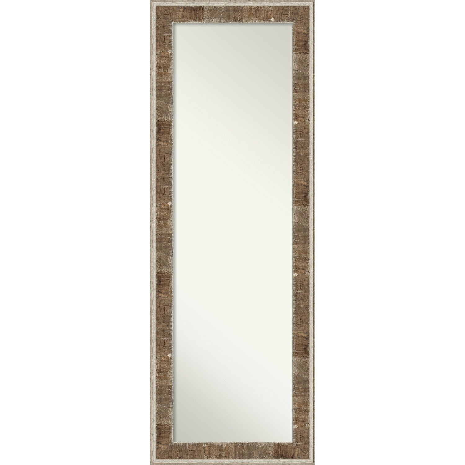 Farmhouse Brown Narrow Wood On The Door Full Length Wall Mirror 52 75 X 18 0 901 Inches Deep