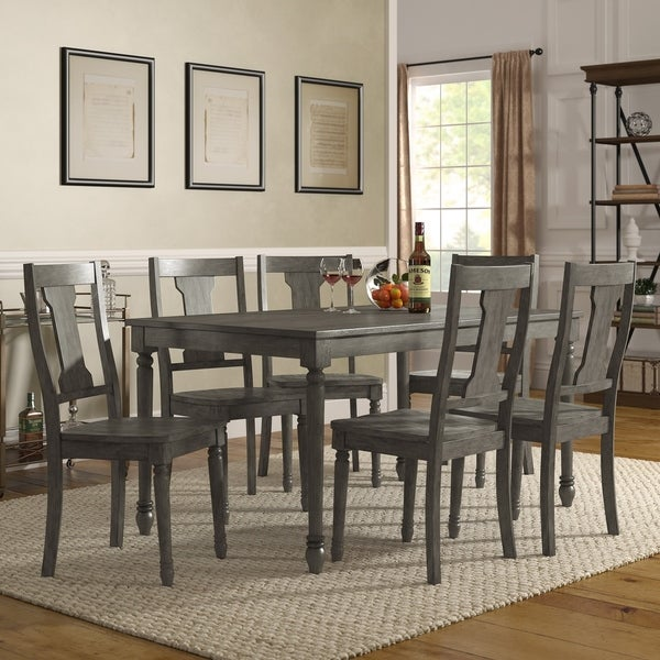 Ultimate Accents Urban 7 Piece Dining Set Reviews: Shop Dahlia Reclaimed Wood Grey Finish 5- Or 7-piece 60