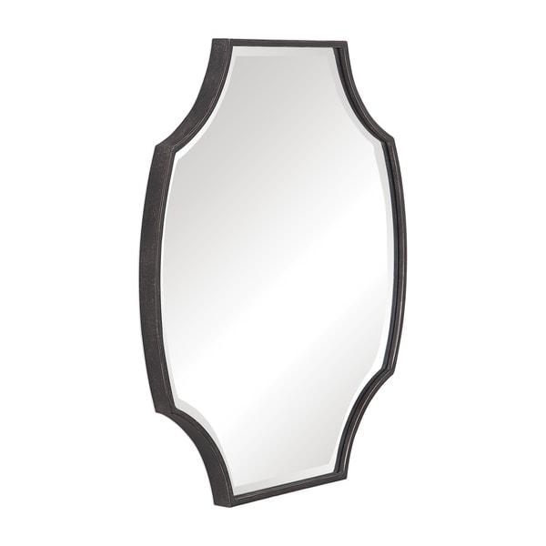Uttermost Ulalia Dark Rustic Bronze Scalloped Mirror
