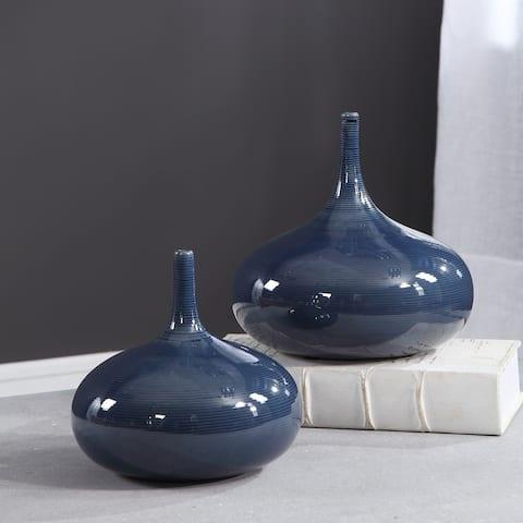 Carson Carrington Salsback Blue Vases (Set of 2)