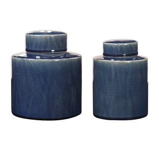 Uttermost Saniya Blue Containers (Set of 2)