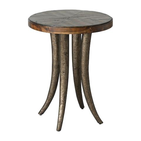 Uttermost Ezra Champagne Bronze Round Accent Table
