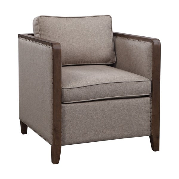 Uttermost Ennis Light Taupe Contemporary Accent Chair. Opens flyout.