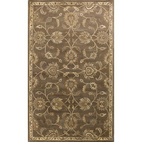 Domani Alexandria Traditional Coffee Wool Hand-tufted Area Rug
