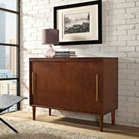 Everett Media Console In Mahogany Finish