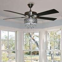 River of Goods Roxsie 5-blade Crystal LED Chandelier Remote Controll Ceiling Fan