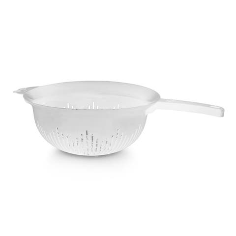 YBM Home 9.75 In. Deep Plastic Colander with Long Handle Use for Pasta