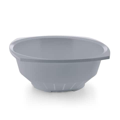 YBM Home 10 In. Square Deep Plastic Colander Use for Pasta, Noodles, Spaghetti, Vegetables and More