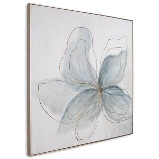 Flor Azul Hand Painted Canvas