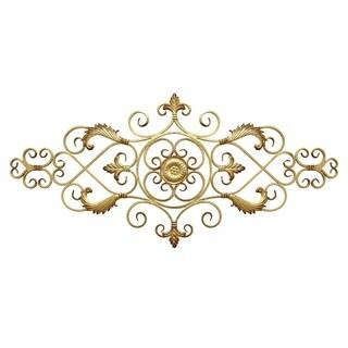 Stratton Home Decor Antique Gold Scroll