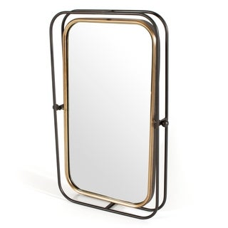 Bevin Metal Wall Mirror - Antique Bronze/Pewter - A/N