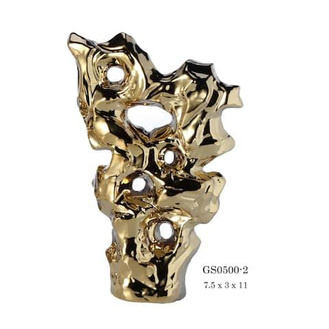 """Harpalus """"Nebula"""" Porcelain Figurine in Polished Chrome Finish"""