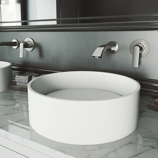Vigo Anvil Matte Stone Tm Vessel Bathroom Sink by Vigo