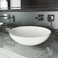 VIGO Lotus Matte StoneTM Vessel Bathroom Sink