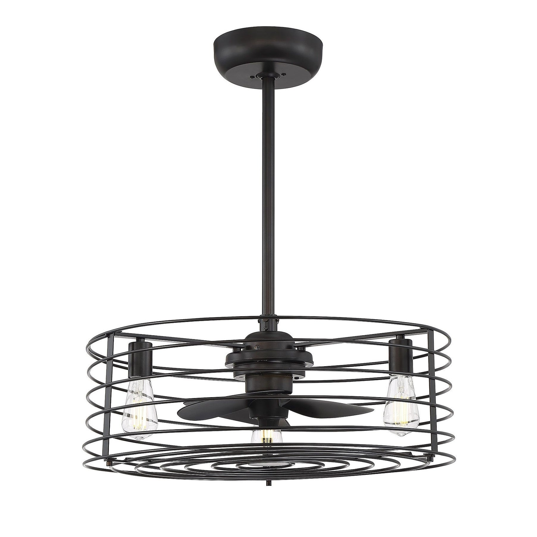 24 In Indoor Oil Rubbed Bronze Ceiling Fan With Light Overstock 27298798