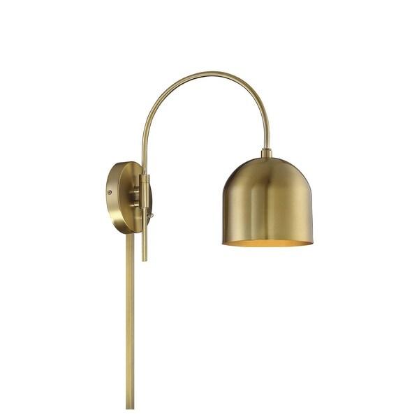 1-Light Natural Brass Sconce. Opens flyout.