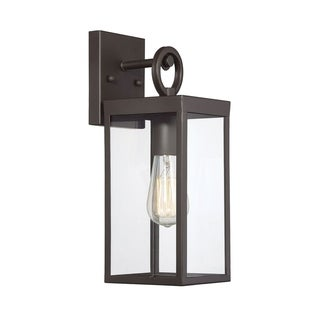 Link to 1-Light Oil Rubbed Bronze Outdoor Wall Mount Sconce Similar Items in Outdoor Wall Lights