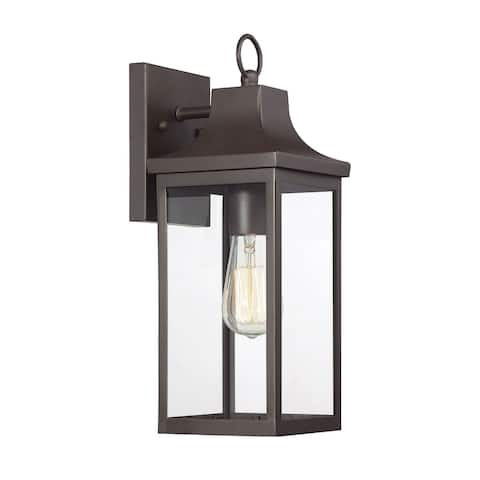 1-Light Oil Rubbed Bronze Outdoor Wall Mount Sconce
