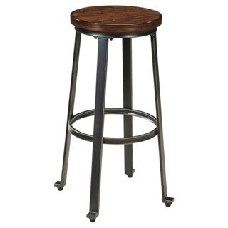 Link to Challiman Rustic Brown Bar Height Bar Stool (Set of 2) Similar Items in Dining Room & Bar Furniture