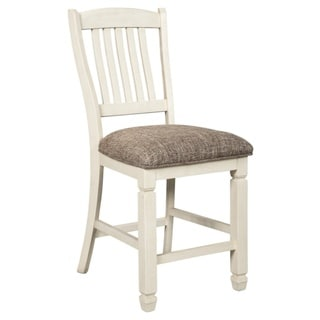 Bolanburg Counter Height Bar Stool - Set of 2 - Antique White - N/A