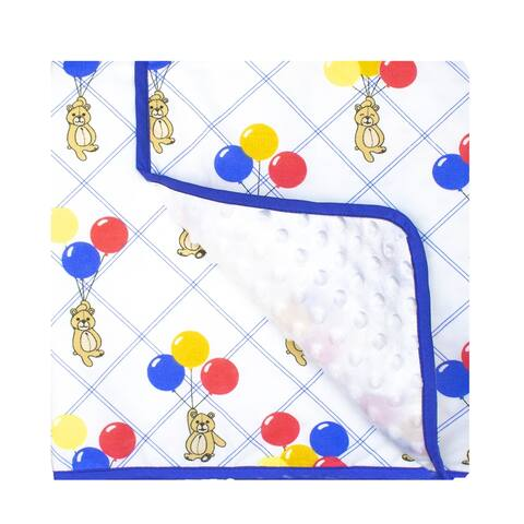 Bears and Balloons Baby Blanket by Pam Grace Creations