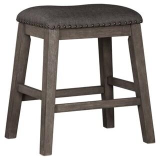 Caitbrook Upholstered Counter Height Bar Stool - Set of 2 - Dark Gray