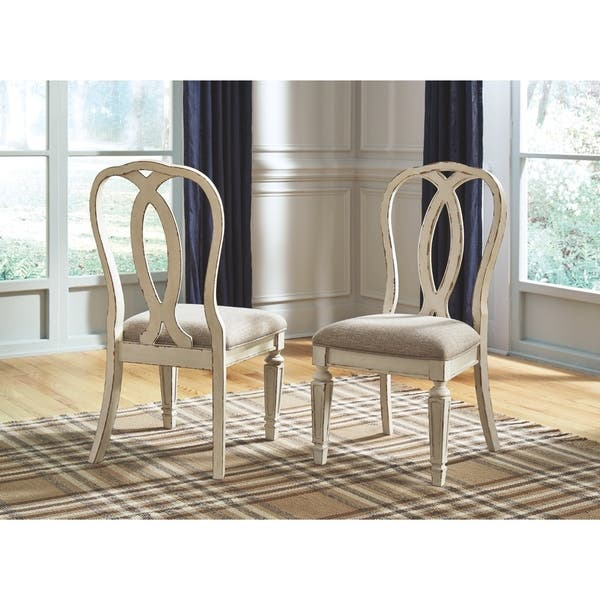 Realyn Dining Room Chair Set Of 2 Chipped White On Sale Overstock 27299072