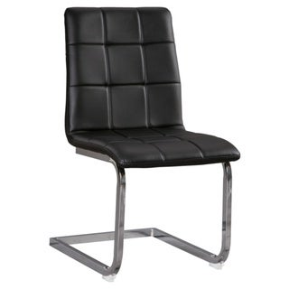Madanere Dining Room Chair - Set of 4 - Black/Chrome Finish - N/A