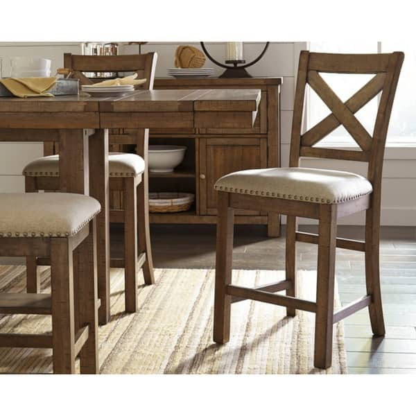 Peachy Shop Moriville Counter Height Bar Stool Set Of 2 Beige Ncnpc Chair Design For Home Ncnpcorg