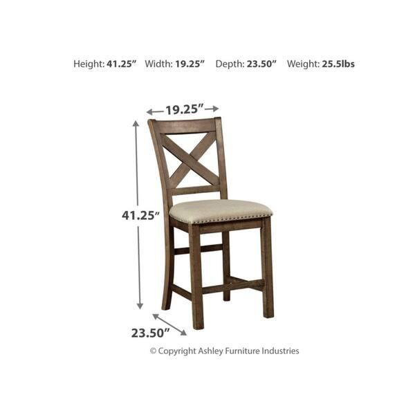 Prime Shop Moriville Counter Height Bar Stool Set Of 2 Beige Unemploymentrelief Wooden Chair Designs For Living Room Unemploymentrelieforg
