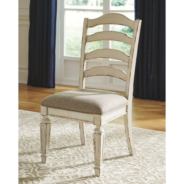 The Gray Barn Nettle Bank Chipped White Dining Room Chair (Set of 2). Opens flyout.