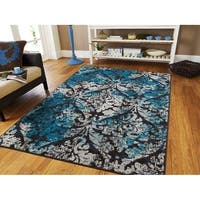 Modern Area Rugs Blue Gray