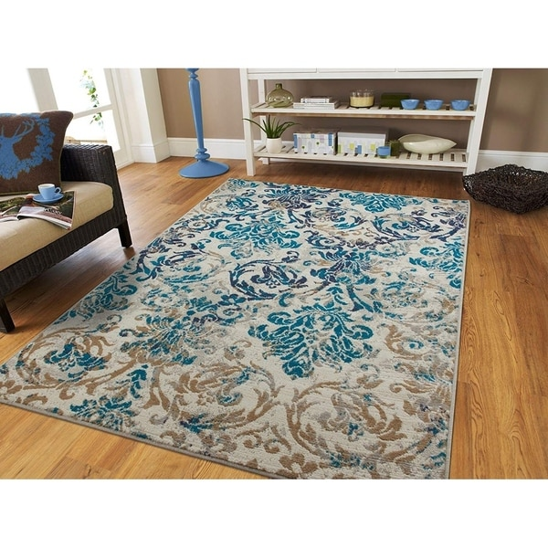 Shop Copper Grove Frejus Modern Teal Blue And Grey Area